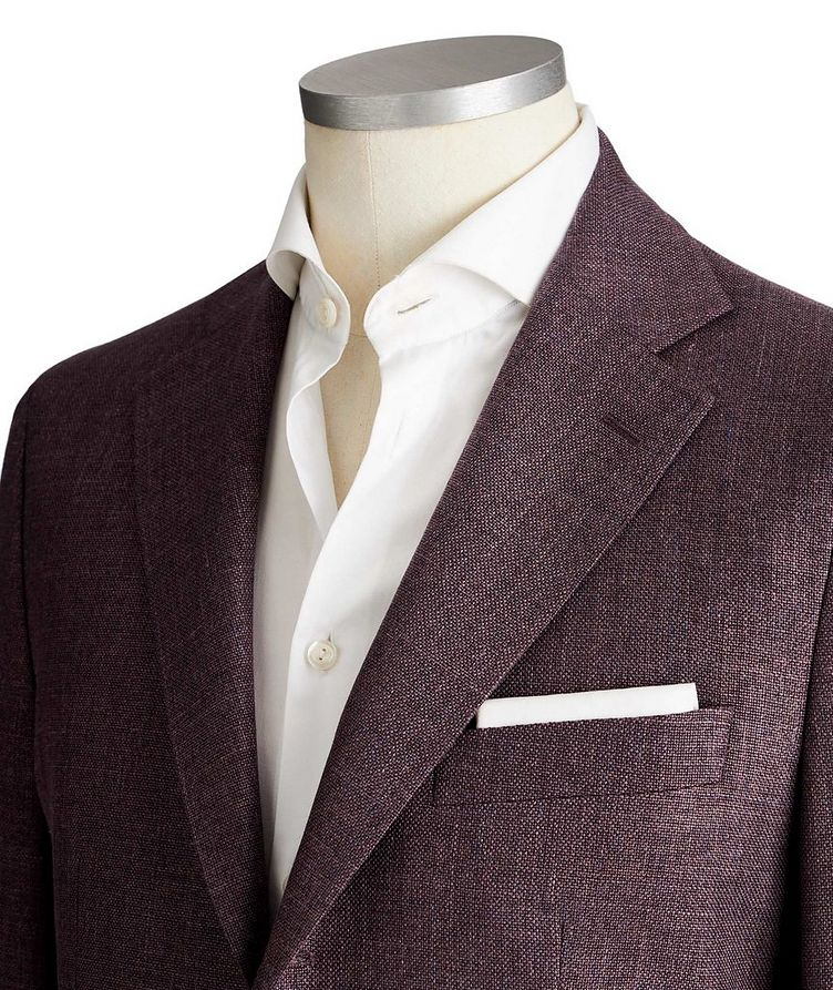 Unstructured Wool, Silk & Linen Tweed Sports Jacket image 1