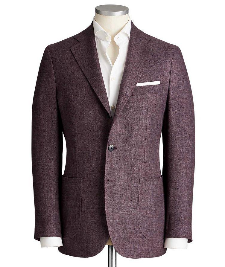 Unstructured Wool, Silk & Linen Tweed Sports Jacket image 0