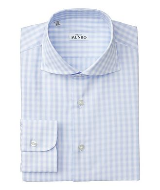 Atelier Munro Slim Fit Checked Cotton Dress Shirt