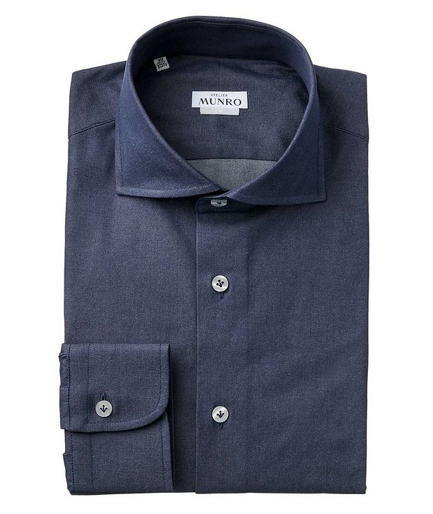 Slim Fit Chambray Dress Shirt picture 1