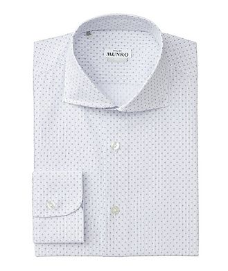 Atelier Munro Slim Fit Striped Cotton Dress Shirt