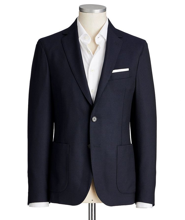 Textured Wool Sports Jacket image 0