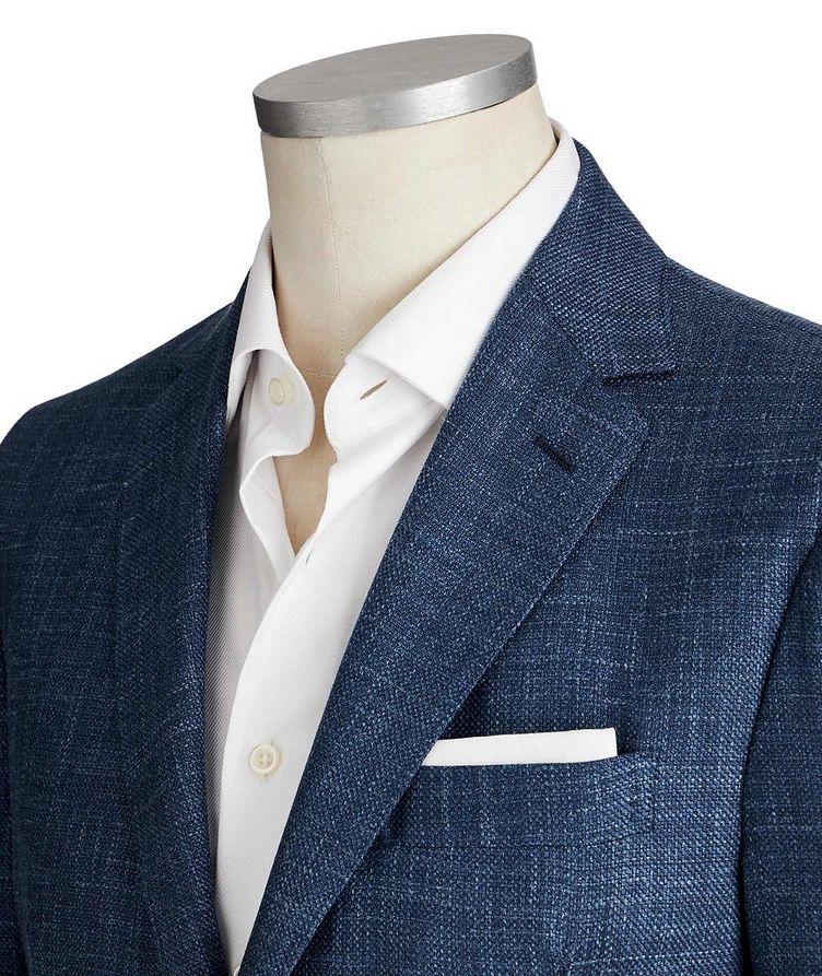 Crosshatched Wool, Silk & Linen Sports Jacket image 1