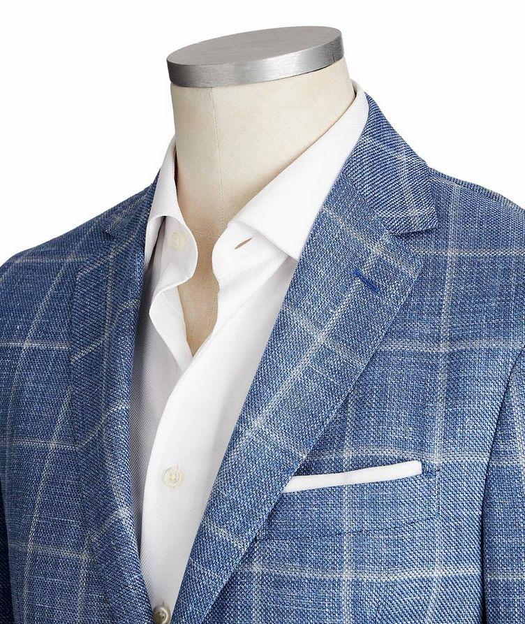 Windowpane Wool, Silk & Linen Sports Jacket image 1