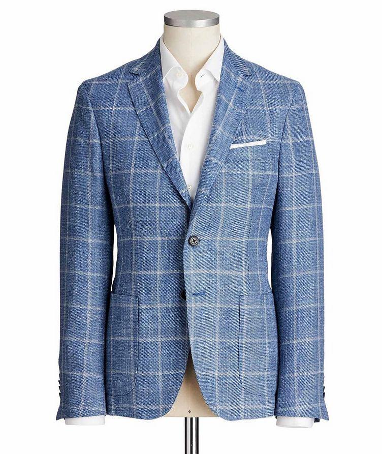 Windowpane Wool, Silk & Linen Sports Jacket image 0