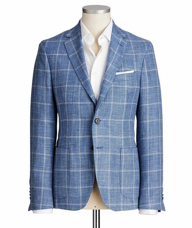 Windowpane Wool, Silk & Linen Sports Jacket picture 1
