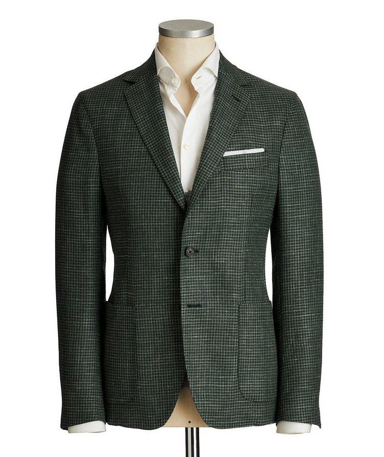 Houndstooth Wool, Silk & Linen Sports Jacket image 0