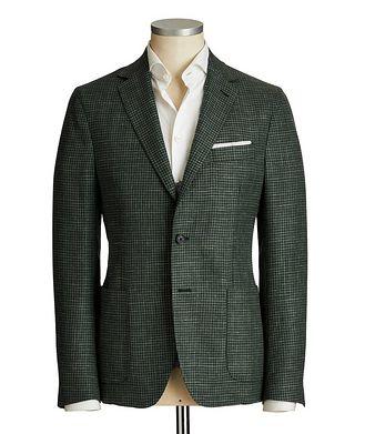 Maurizio Baldassari Houndstooth Wool, Silk & Linen Sports Jacket