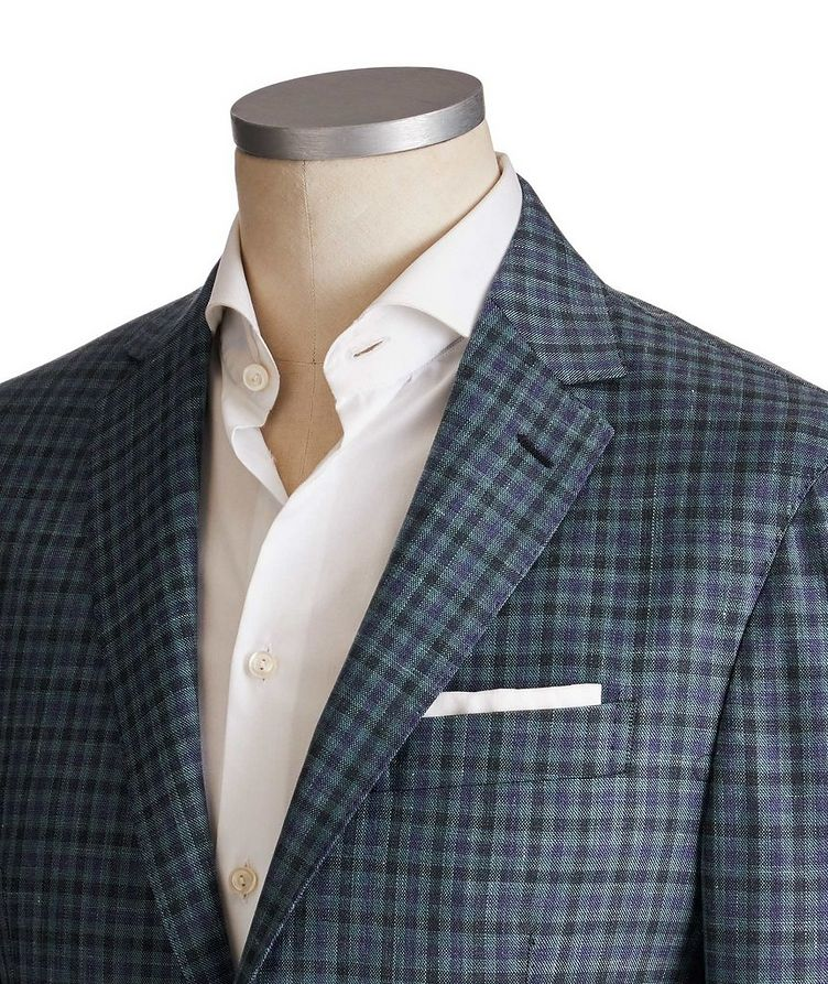 Checkered Wool-Silk Sports Jacket image 1