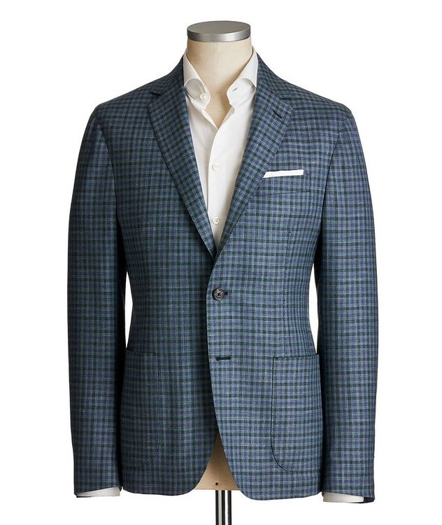 Checkered Wool-Silk Sports Jacket picture 1