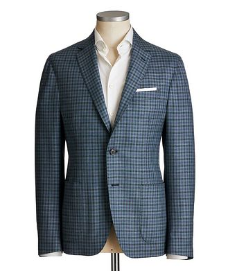 Maurizio Baldassari Checkered Wool-Silk Sports Jacket