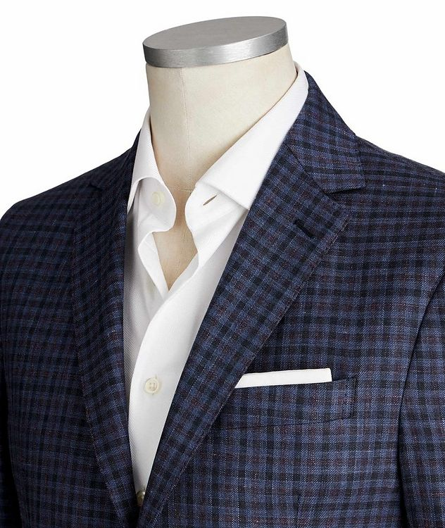Gingham Wool, Silk & Linen Sports Jacket picture 2