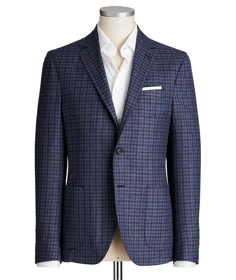 Gingham Wool, Silk & Linen Sports Jacket image 0
