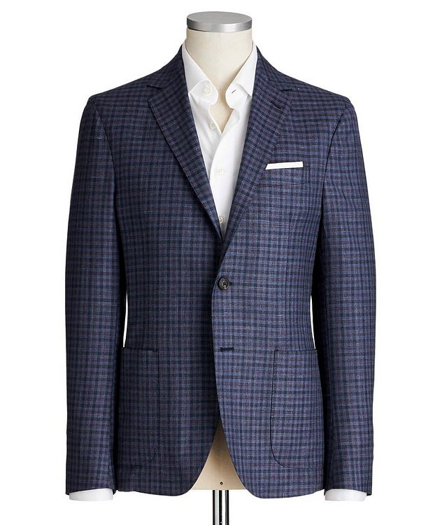 Gingham Wool, Silk & Linen Sports Jacket picture 1