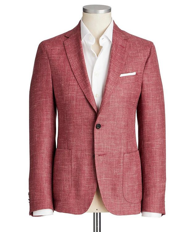 Crosshatched Wool, Silk & Linen Sports Jacket picture 1