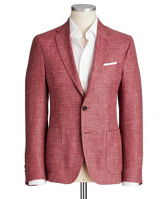 Maurizio Baldassari Crosshatched Wool, Silk & Linen Sports Jacket