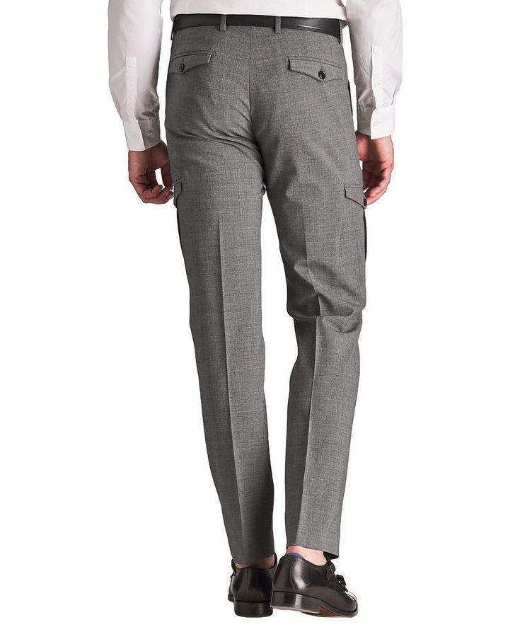 Pantalon habillé en laine extensible de coupe amincie image 1