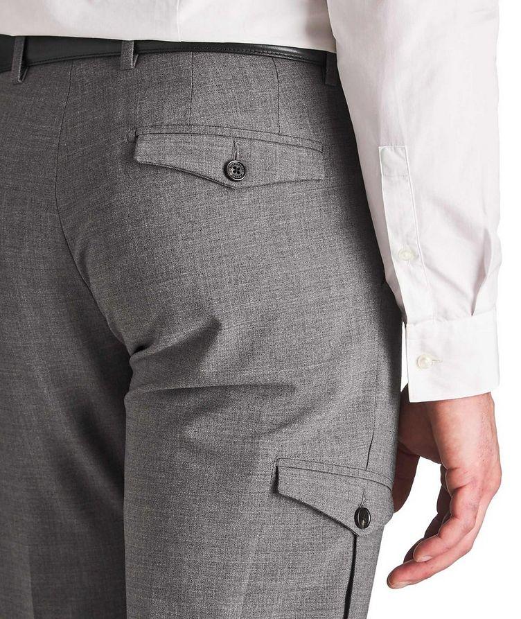 Pantalon habillé en laine extensible de coupe amincie image 2