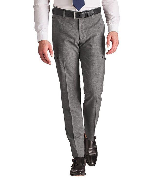 Pantalon habillé en laine extensible de coupe amincie picture 1