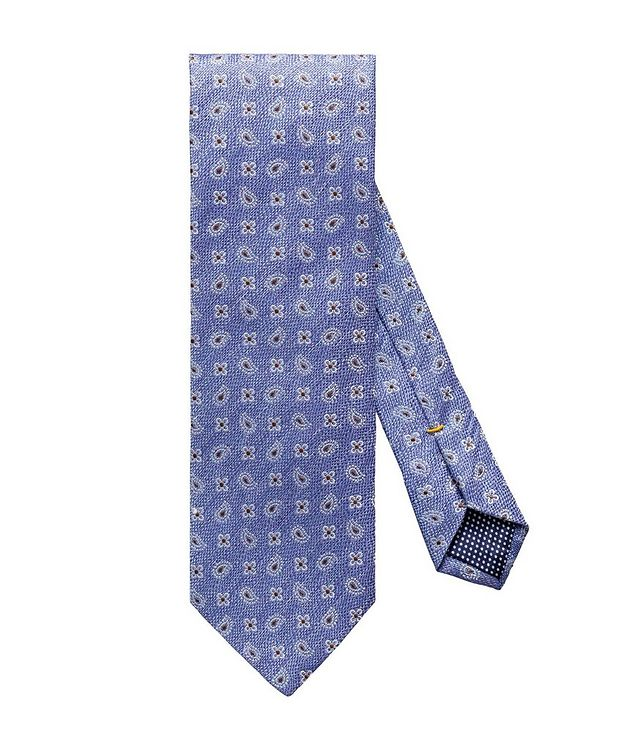 Neat-Printed Silk-Linen Tie picture 1