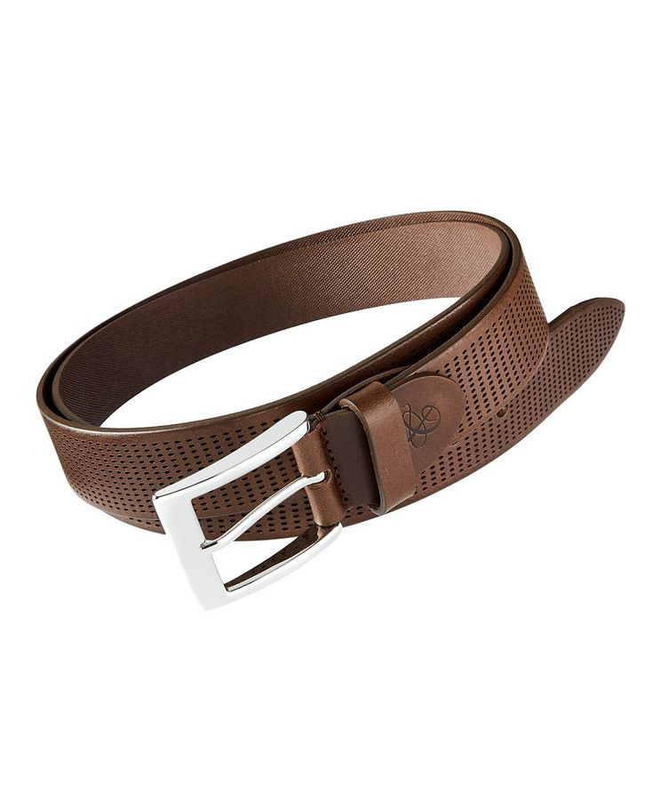 Perforated Leather Belt image 0