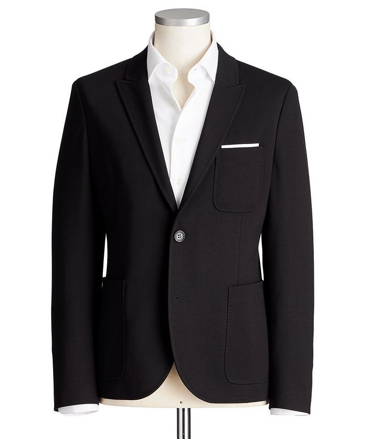 Slim Fit Stretch-Jersey Sports Jacket image 0
