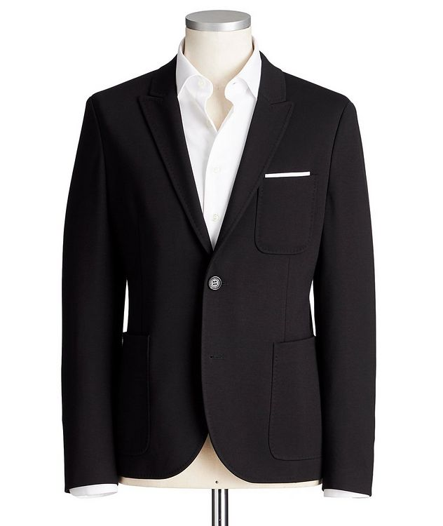 Slim Fit Stretch-Jersey Sports Jacket picture 1