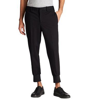 Neil Barrett Slim Fit Travel Jersey Dress Pants