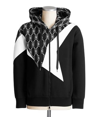 Neil Barrett Zip-Up Monogram Hoodie