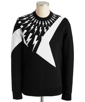 Neil Barrett Side-Zip Scuba Sweatshirt