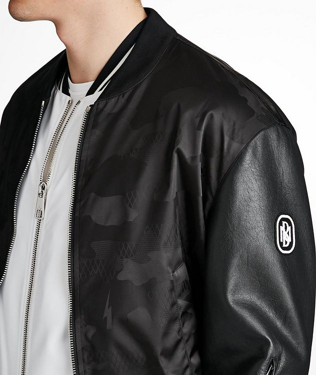 Multi-Texture Bomber Jacket picture 4