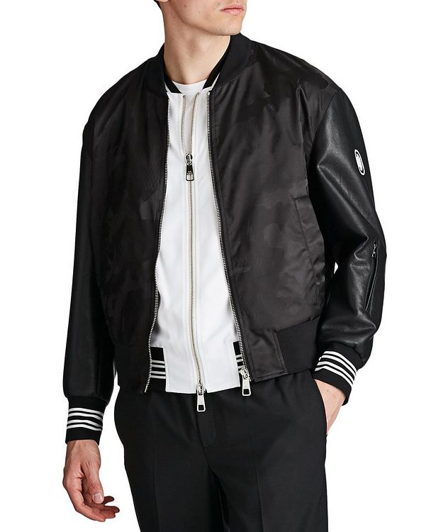 Multi-Texture Bomber Jacket picture 1