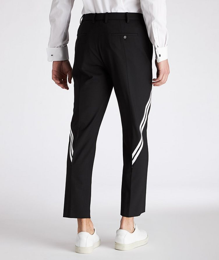 Slim Fit Striped Gabardine Stretch Wool Pants image 1