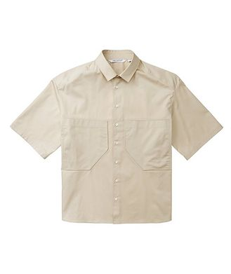 Neil Barrett Short-Sleeve Utilitatian Cotton Shirt