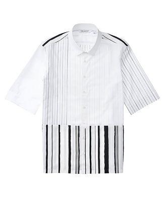 Neil Barrett Short-Sleeve Striped Cotton-Blend Shirt