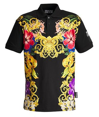 Versace Jeans Couture Printed Cotton Polo
