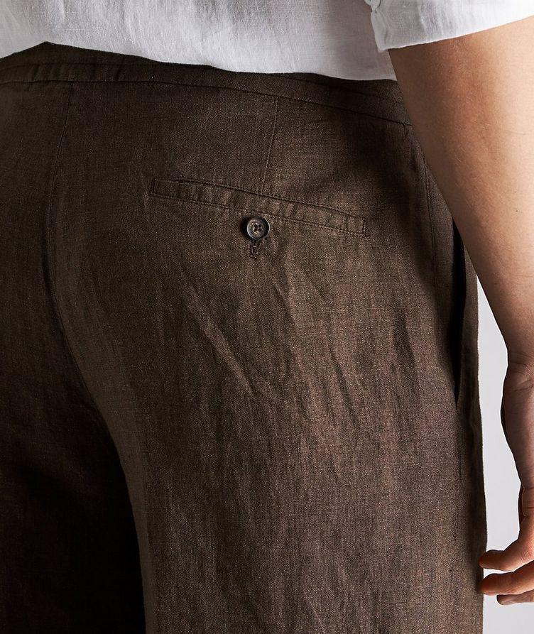 Linen Drawstring Bermuda Shorts image 2