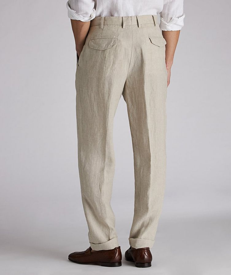 Contemporary-Fit Linen Trousers image 1