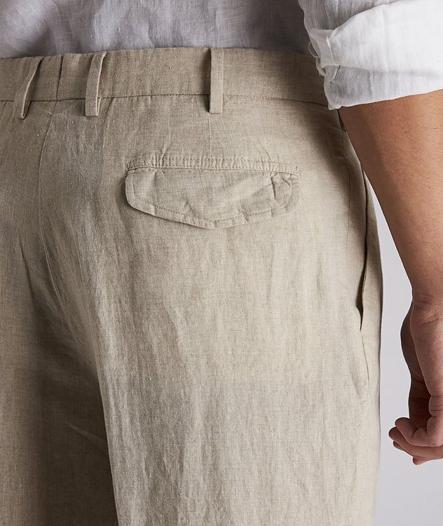 Contemporary-Fit Linen Trousers picture 3