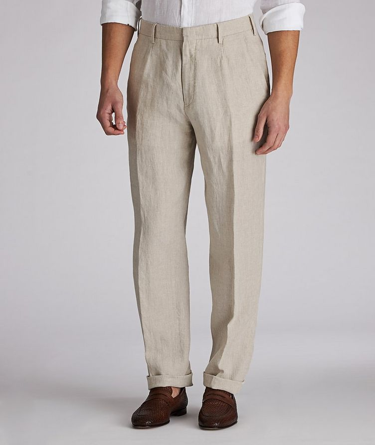 Contemporary-Fit Linen Trousers image 0