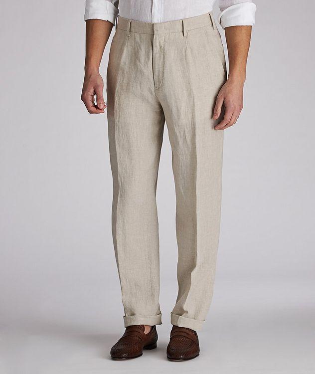 Pantalon en lin de coupe contemporaine picture 1