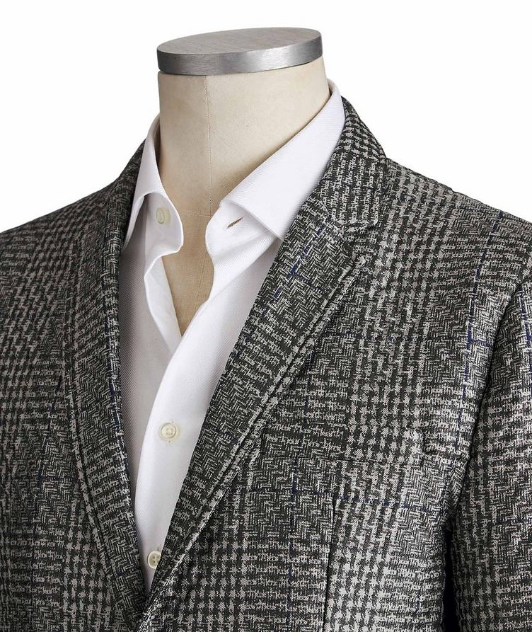 Textured Checked Blazer image 1