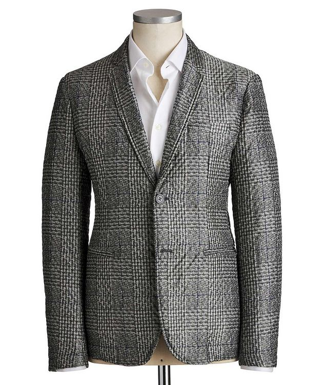 Textured Checked Blazer picture 1