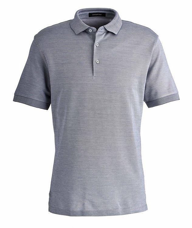 Slim Fit Cotton-Silk Polo picture 1