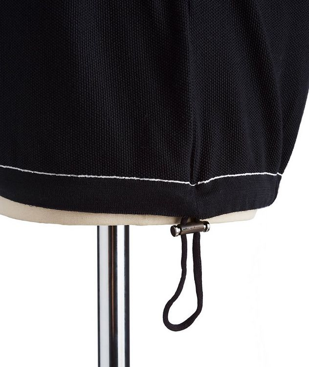 Zip-Up Cotton-Silk Polo picture 3