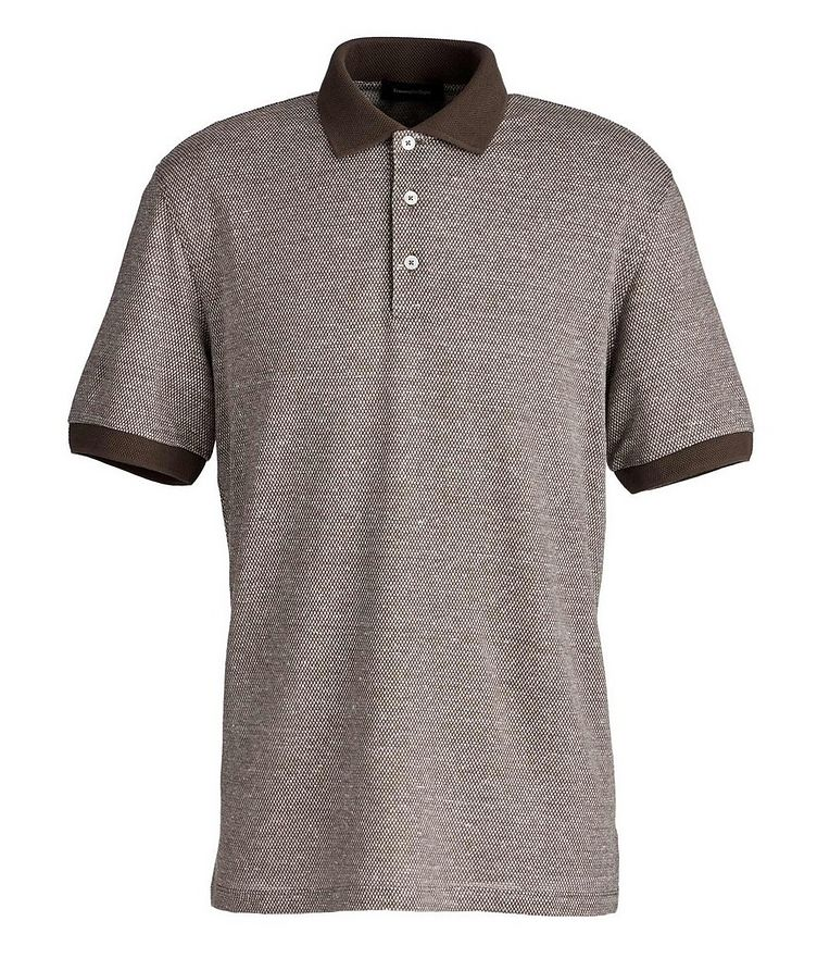 Textured Cotton-Linen Polo image 0