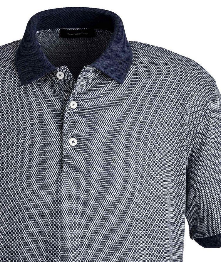 Textured Cotton-Linen Polo image 1