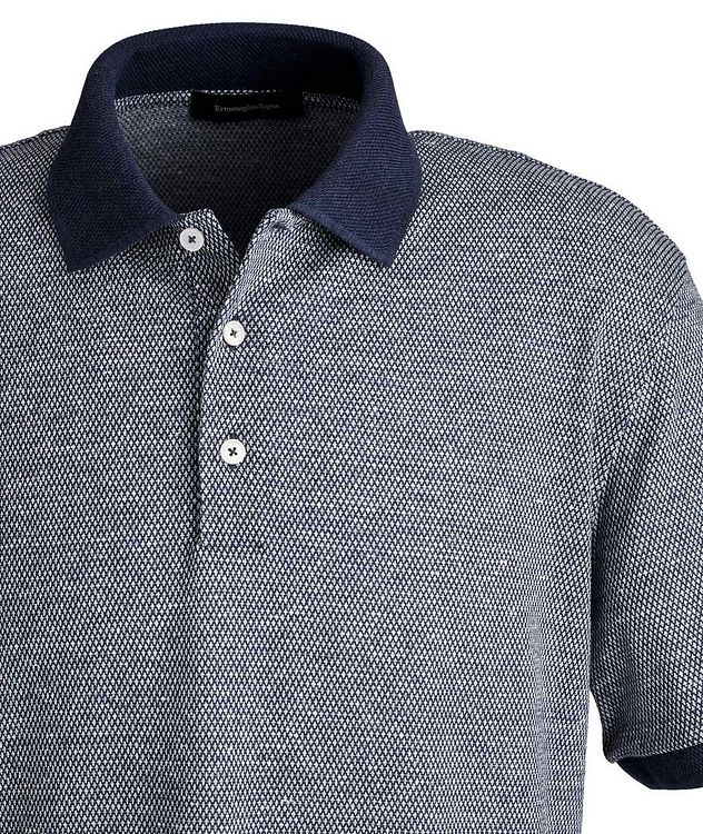 Textured Cotton-Linen Polo picture 2