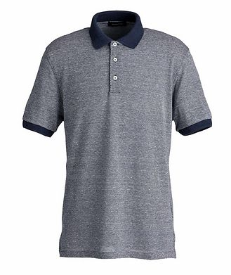 Ermenegildo Zegna Textured Cotton-Linen Polo