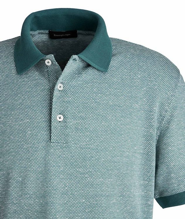 Textured Cotton-Linen Polo picture 2